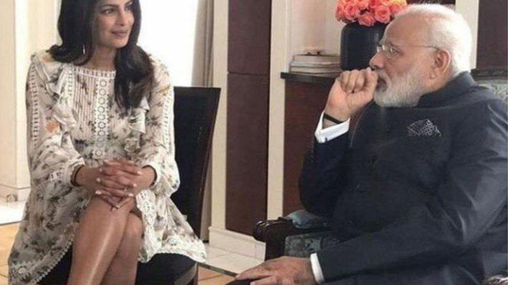 Gaunnya Tersingkap Saat Temui PM, Aktris India Picu Kontroversi