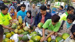 Pasar Murah di Surabaya, 1.6 Ton Buah Ludes Kurang dari 1 Jam