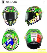 Helm Special Rossi untuk Totti dan Hayden