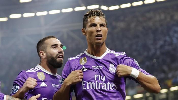 Bintang Real Madrid Cristiano Ronaldo merayakan golnya di Final Liga Champions (Foto: Reuters / Eddie Keogh Livepic)