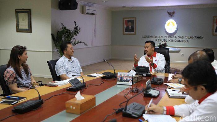 PBSI Bertemu Kemenpora (Foto: Detiksport/Rengga Sancaya)