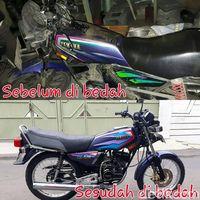 Foto motor sebelum dan sesudah dibedah