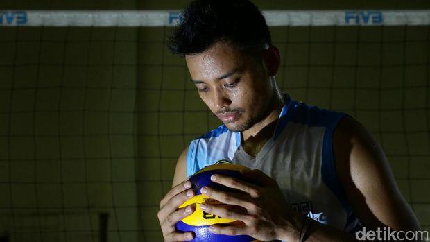 Agung Seganti, kapten timnas voli putra SEA Games 2017.