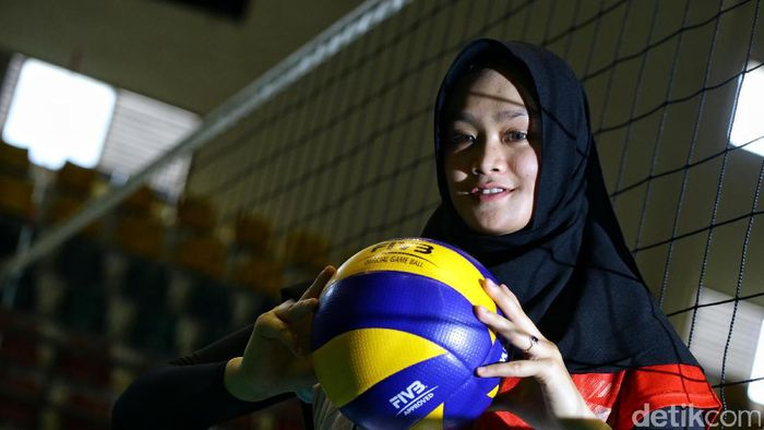 Wilda Suwandi, kapten timnas voli putri ke SEA Games 2017 Kuala Lumpur. Foto: Hasan Alhabshi/detikSport