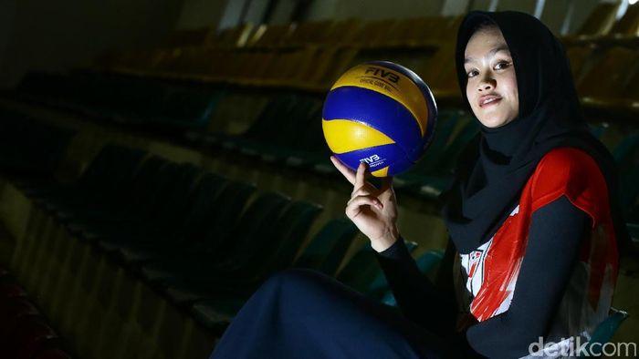 Wilda Sugandi kapten timnas voli putri. Foto: Hasan Alhabshi/detikSport