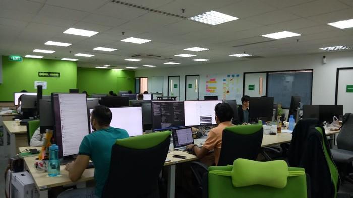 Kantor Grab di SIngapura. Foto: Nathania/detik