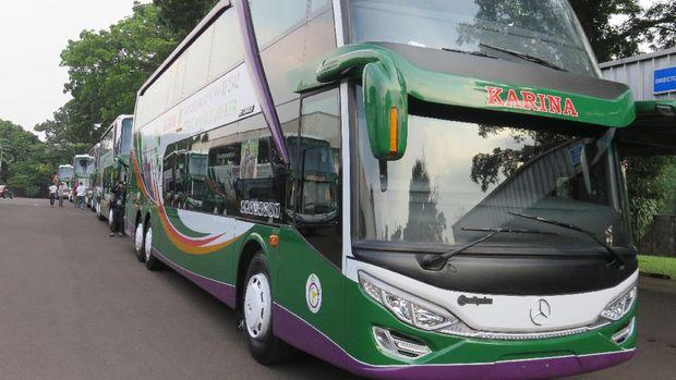 Ilustrasi (Bus double decker Mercy untuk Lorena)