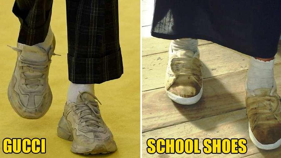 Sneakers Mahal Terbaru Gucci Dicela Jelek Bak Sepatu Dekil Anak Sekolah 42bc3e6297