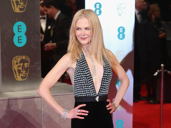 LONDON, ENGLAND - FEBRUARY 12: Nicole Kidman attends the 70th EE British Academy Film Awards (BAFTA) at Royal Albert Hall on February 12, 2017 in London, England.  (Photo by Chris Jackson/Getty Images)