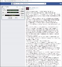 Screenshot dari akun Facebook pelaku hate speech