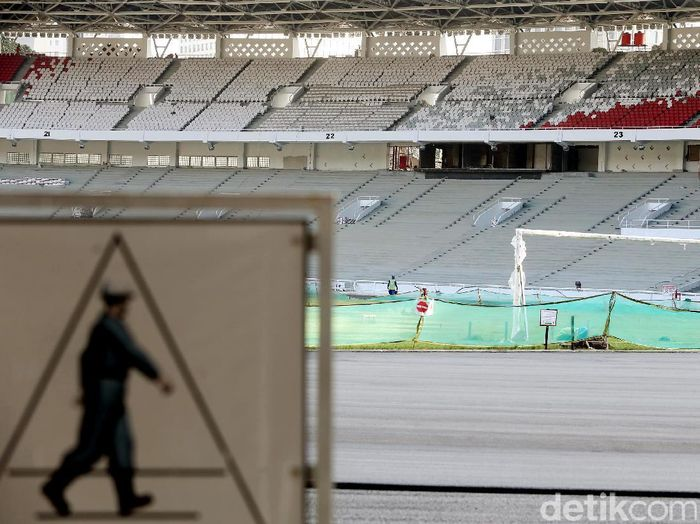 Royal box Stadion Gelora Bung Karno dari kejauhan. (Foto: Rengga Sancaya)