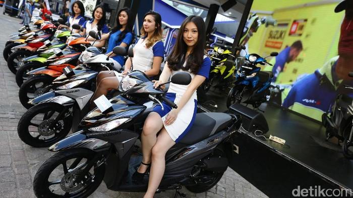 Suzuki meluncurkan skuter matik versi baru di perhelatan Jakarta Fair 2017, Jumat (9/6). Skutik anyar itu yaitu Suzuki Nex dan Address.