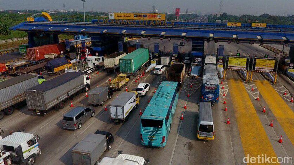 Progres Pemindahan Gerbang Tol Cikarang Utama Sudah 50%
