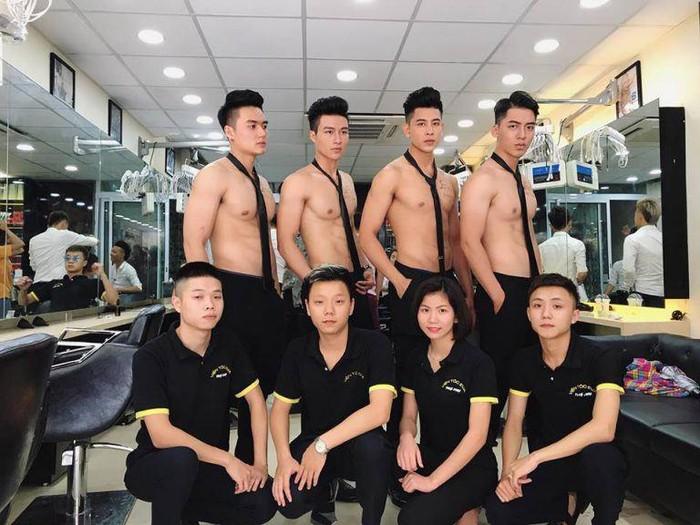 Salon di Vietnam yang karyawannya telanjang dada. Foto: ist.