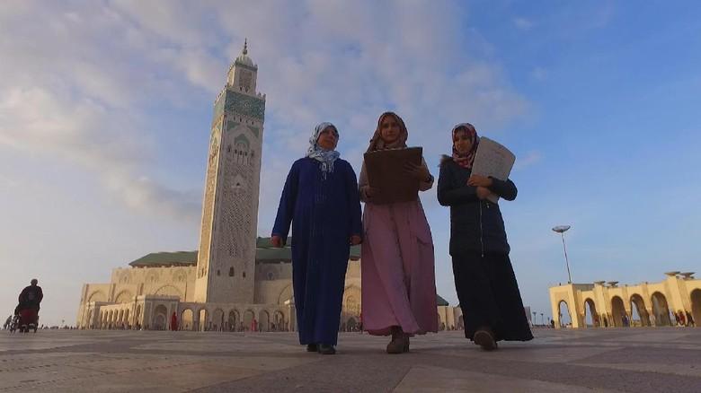 Masjid Hassan II, landmark Maroko (Irfan Padli/TRANS7)