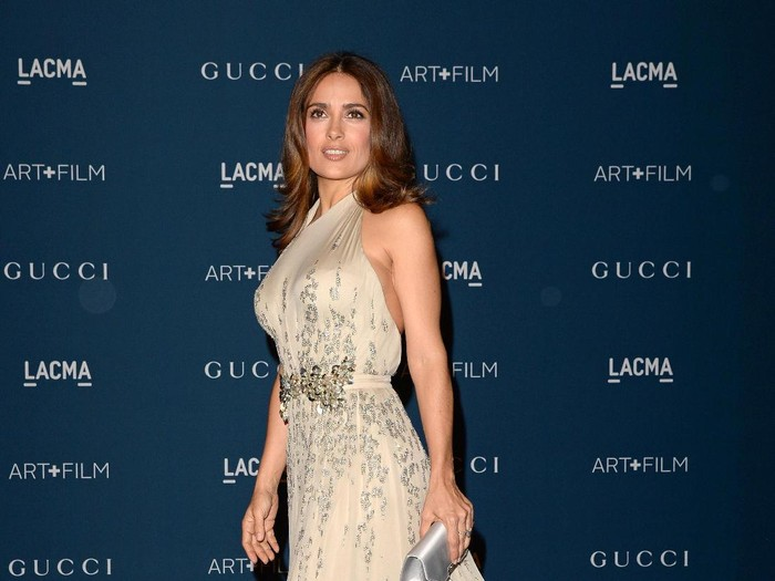LOS ANGELES, CA - NOVEMBER 02:  Actress Salma Hayek, wearing Gucci, attends LACMA 2013 Art + Film Gala honoring Martin Scorsese and David Hockney presented by Gucci at LACMA on November 2, 2013 in Los Angeles, California.  (Photo by Jason Merritt/Getty Images for LACMA)