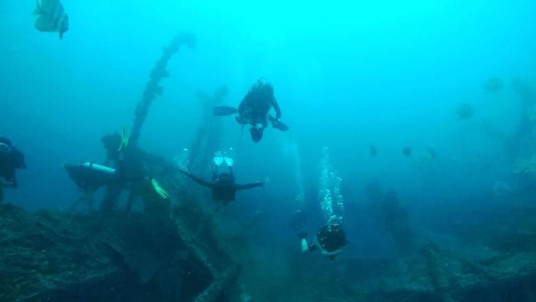 Kalau diving di Sabang jangan lupa mampir ke wreck kapal Sophie Rickmers (Kamal/detikTravel)