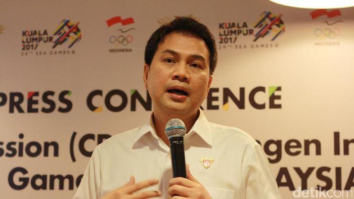 Komandan Kontingen (Chief de Mission) Indonesia dalam SEA Games 2017 Aziz Syamsuddin. Foto: Femi Diah/detikSport