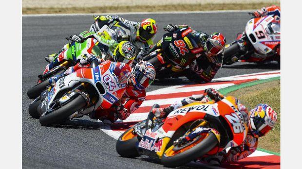 MotoGP Catalunya musim lalu dimenangi pebalap Ducati Andrea Dovizioso.