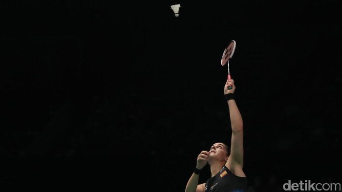 Carolina Marin tersingkir di babak pertama Indonesia Open 2017. Foto: Grandyos Zafna/detikSport