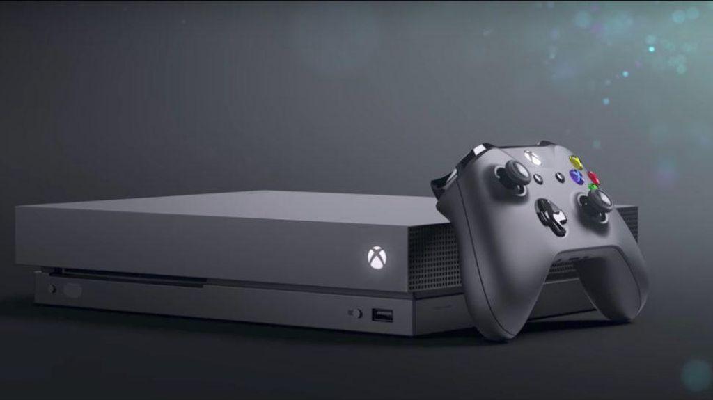 Xbox One X dilabur warna hitam, dengan desain minimalis. Foto: Microsoft