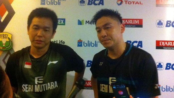 Foto: Hendr Setiawan dan Tan Boon Heong (detikSport/Randy Prasatya)