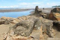 Batu Malin Kundang di Pantai Air Manis Padang (Hesti/detikTravel)