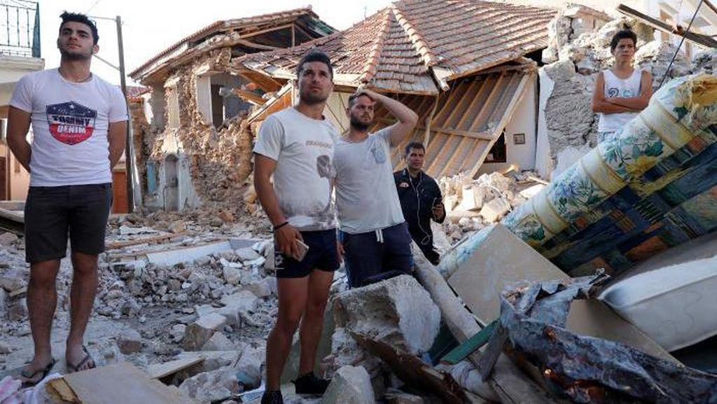 Diguncang Gempa M 5,8 Sejumlah Bangunan di Yunani Rusak, 1 Orang Tewas