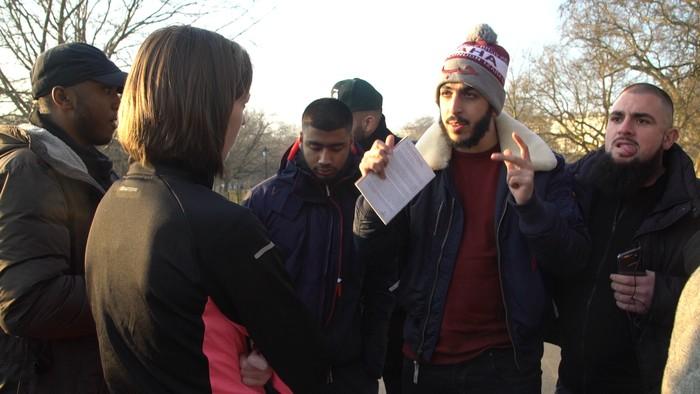 Speakers Corner alias pojok pembicara di Hyde Park London, tempat Ali dkk berdakwah. (Irfan Padli/TRANS7)
