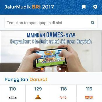 Mudik Asyik Pakai Aplikasi Jalur Mudik BRI 2017