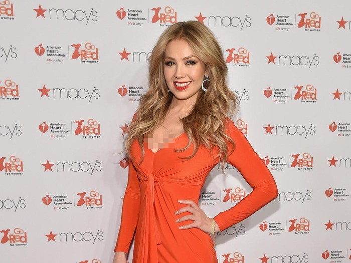 NEW YORK, NY - FEBRUARY 12:  Thalia attends the Go Red For Women Red Dress Collection 2015 presented by Macys?fashion show during Mercedes-Benz Fashion Week Fall 2015 at Lincoln Center on February 12, 2015 in New York City.  (Photo by Mike Coppola/Getty Images for Go Red)