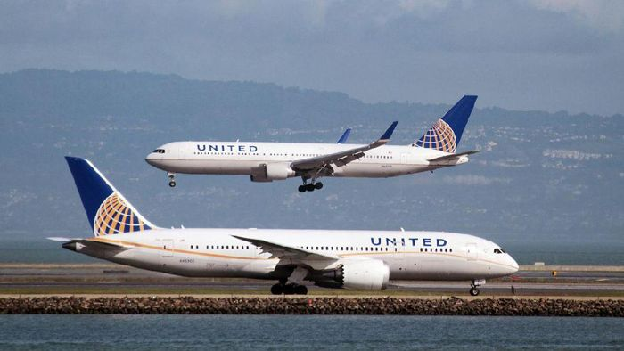 Foto: Pesawat maskapai United Airlines (Reuters)