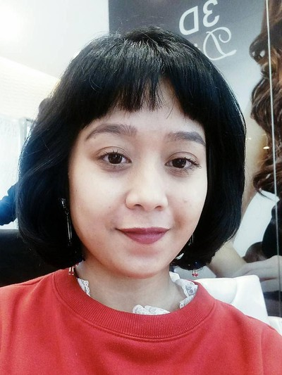 Mencoba Permanent Blow Di May May Salon