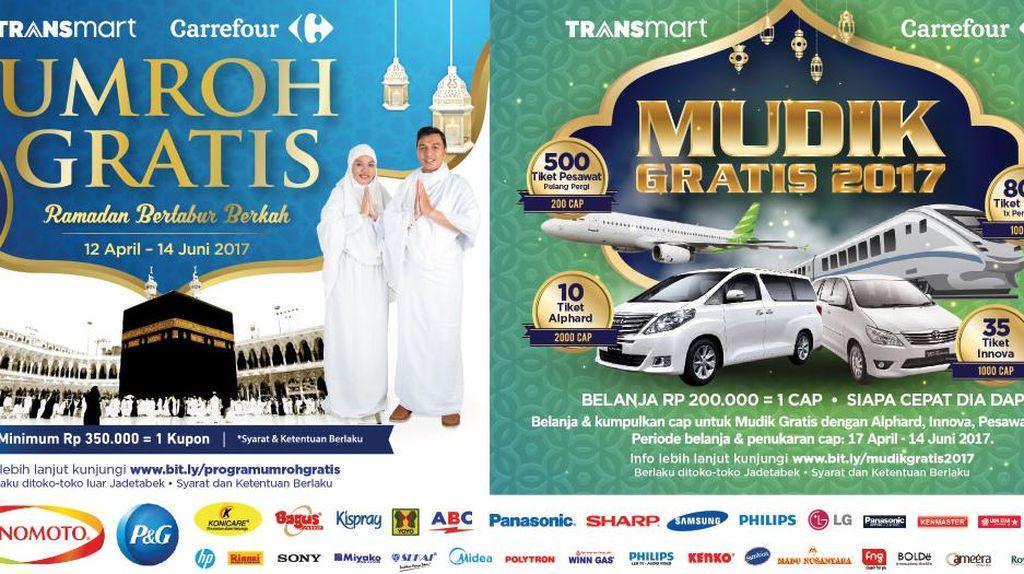 Hari Terakhir Program Mudik dan Umrah Gratis Transmart Carrefour
