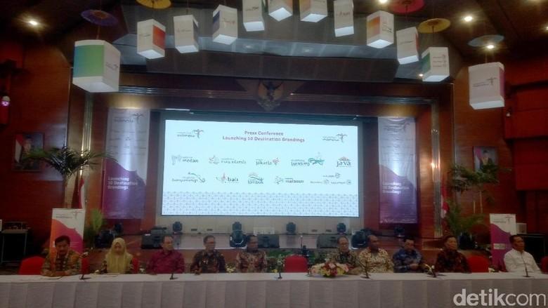 Foto: Launching branding baru 10 destinasi wisata di Kemenpar (Syanti/detikTravel)