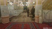 Raudhah adalah area dengan karpet hijau (Fitraya/detikTravel)