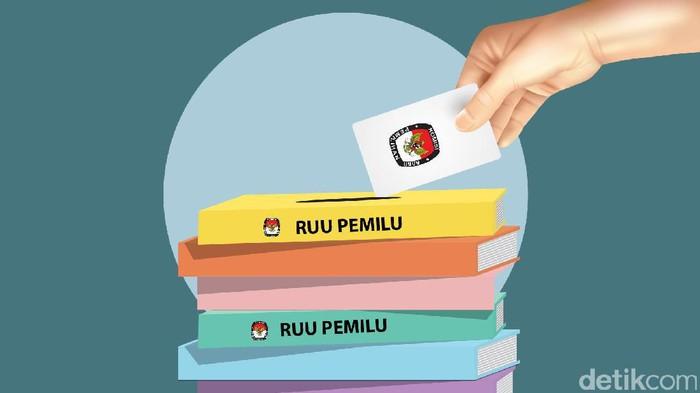 Ilustrasi RUU Pemilu (Luthfy Syahban/detikcom)