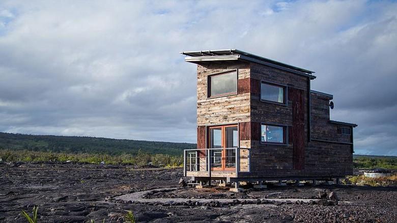 Phoenix House yang dibangun di atas lahar (dok. ArtisTree)