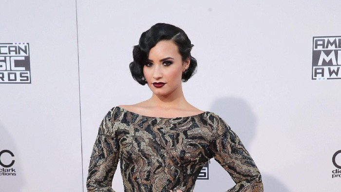 LOS ANGELES, CA - NOVEMBER 22:  Singer Demi Lovato attends the 2015 American Music Awards at Microsoft Theater on November 22, 2015 in Los Angeles, California.  (Photo by Mark Davis/Getty Images)