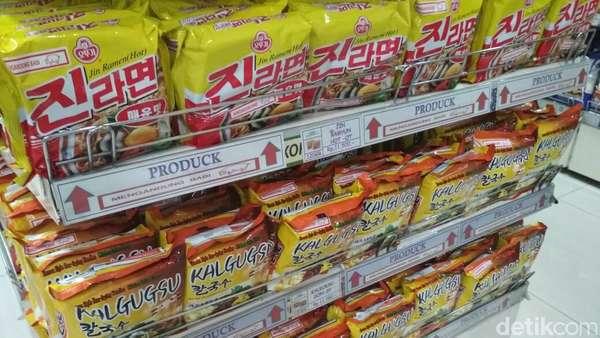 2.157 Ton Mie Instan Korea Masuk RI dalam 4 Bulan
