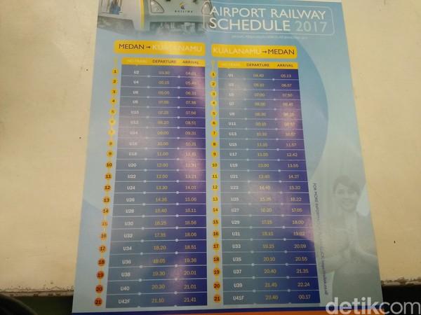 Jadwal kereta bandara yang beroperasi mulai pukul 04.00 - 21.30 WIB setiap harinya (Bonauli/detikTravel)