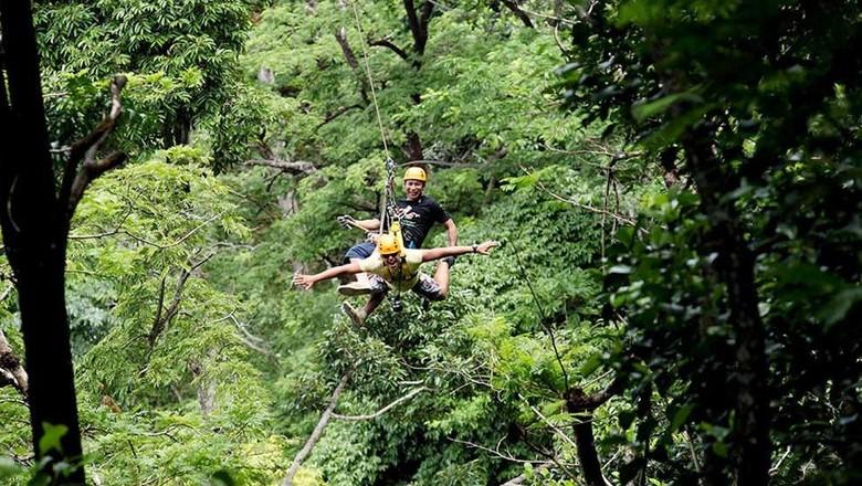 Bergelantungan bebas seperti Hanoman di Thailand (Flying Hanuman)