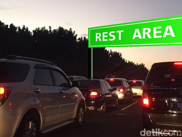 Ilustrasi macet/ antrean di rest area