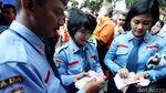 Suasana Antrean Penukaran Uang di Gedung DPR RI