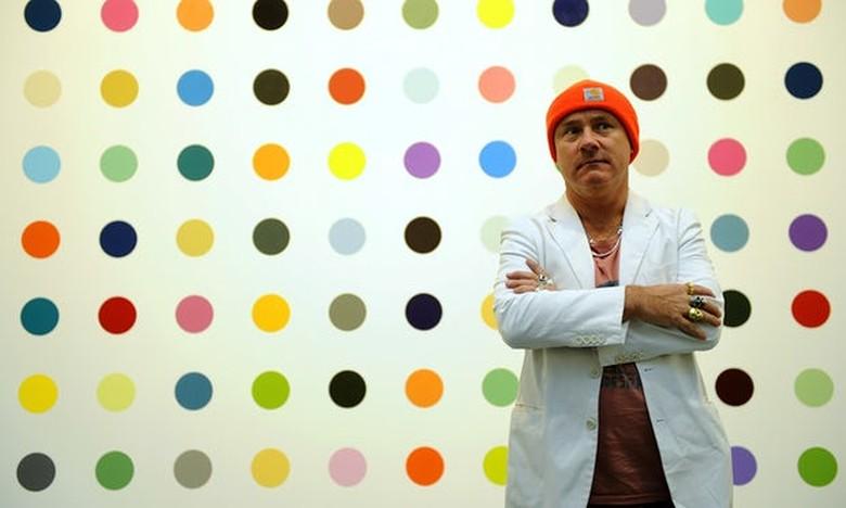 50 Lukisan Damien Hirst akan Hiasi Bangunan Bersejarah di Inggris