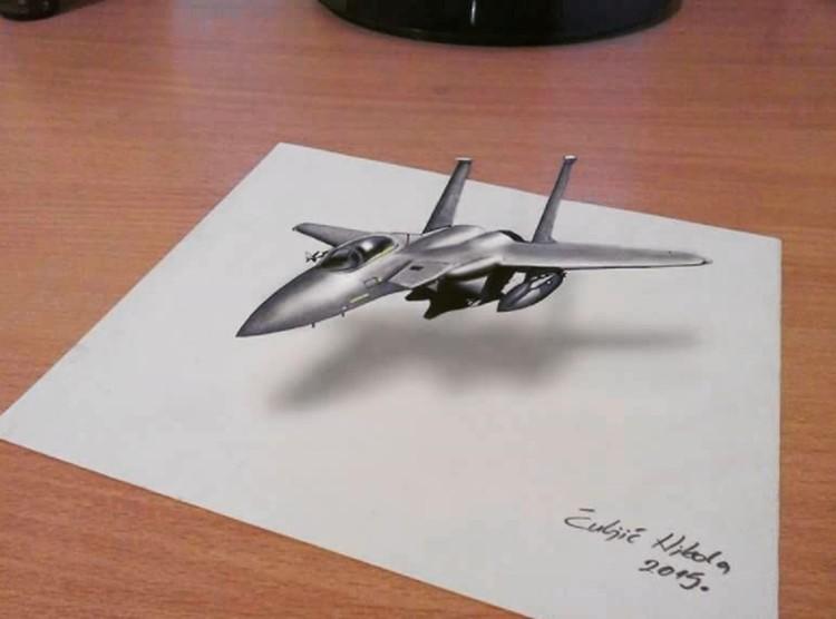 Lukisan 3d Goresan Pensil Yang Super Keren Foto 2