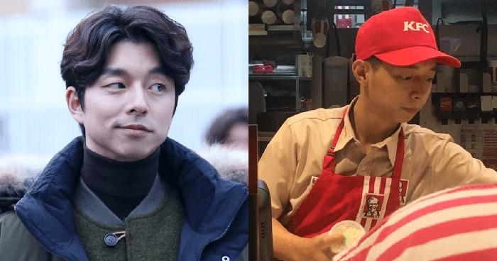 Karyawa KFC mirip Gong Yoo. Foto: Facebook/Eriel Pangan Mendoza