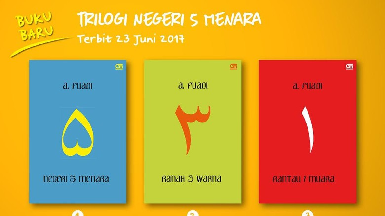 Novel Trilogi Negeri 5 Menara Rilis Sampul Baru  Foto: Gramedia Pustaka Utama
