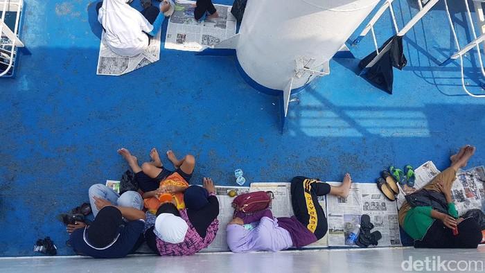 Para pejuang Pulang Jumat Kembali Ahad, waspadai kesehatanmu! Foto: Bahtiar Rifai/detikcom