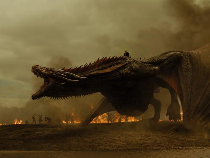Ilustrasi naga di Game of Thrones. Foto: dok. HBO Asia